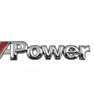 Fashion Silver and Black Motorsport Metal Car Sticker Rear Trunk Grill Stickers for BMW M Power E46 E30 E34