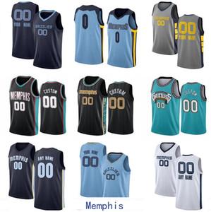 Özel Erkek Kadın Gençlik Jersey Memphis Şehir Takımı JA 12 Ahlaki 10 Bibby 13 Jackson JR Herhangi bir isim ve sayı Swingman City Jersey