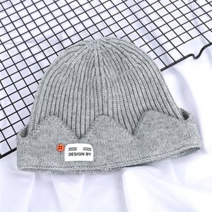 Adult Thick Winter Warm Hat Men And Women Soft Stretch Cable Knitted Pompom Beanie Hat Skull Beanie Girl Ski#693