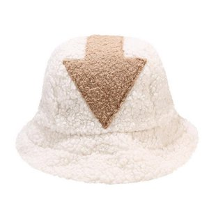Laamei New Fashion Hip Hop White Lamb Wool Gorros Fishing Caps Faux Fur Bucket Hats Women Winter Warm Gorros Mujer 2020