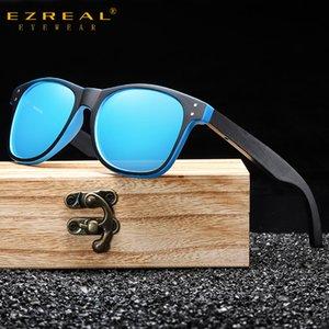 GM Occhiali da sole neri GM Uomo polarizzato UV400 Protezione Eyewear Box originale in legno S5080