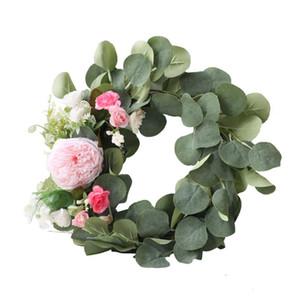 Garland Floral Hoop Eucalyptus Wreath Flower Aarrangement Wreaths Vine Greenery Door Decoration Houseplant Home Decor Artificial