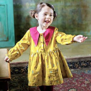 Clearance sale floral girls dresses cotton long sleeve girl dress cute kids dresses sweet princess dress baby girl clothes Z279