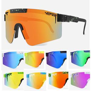 Nuevo Pit Viper Square Gafas de sol Hombres Mujeres Doble ancho polarizado espejo espejo gafas unidad tr90 marco UV400 Gafas de sol deportivas