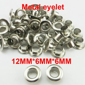 500PCS 12*6*6MM Silver METAL Button Sewing Decorative Clothes Accessory ROUND Shoes Bag Eyelet ME-025