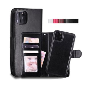 New Phone Case Leather Wallet Case Magnetic 2 in 1 Detachable Cover Cases For iPhone 11 Pro xs Max 7 8 Samsung Note10 S10 Plus