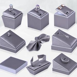 Silver Grey Jewelry Showcase عرض موقف الدعامة المجوهرات مكافحة مجلس الوزراء عرض المعرض عرض الأقراط خاتم قلادة معرض