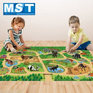 142*96CM Play Mat Cartoon Animals Model Set Educational Development Toys Mat For Boys And Girls Gifts Z1123