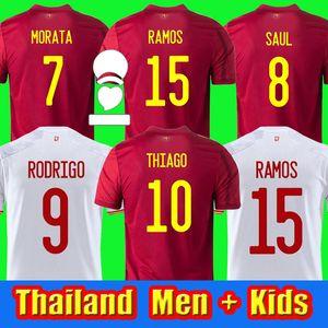 2020 2021 España Rodrigo Paco Alcacer İspanya Futbol Jersey Morata Ramos Sarabia Iniesta Futbol Futbol Gömlek Camisetas de Futbol