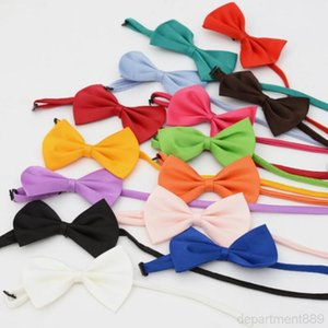 Pet Tie Collar Flower Accessories Decoration Supplies Pure Color Bowknot Necktie Dog Grooming Tools OWD2986