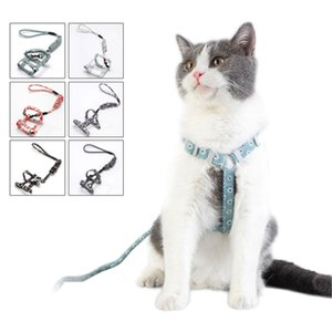 Nylon Cat Harness And Leash Set Pet Products Kitten Adjustable Vest Harness Leads Pet Clothes For Cats