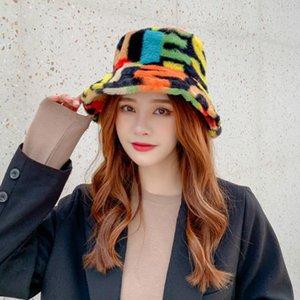 Women's Fisherman Hat Solid Fur Warm Female Leopard Print Winter Bucket Hat Women's Outdoor Sun Panama Ladies