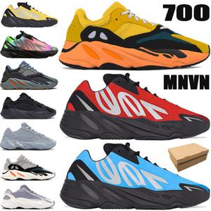 La nueva llegada 700 v1 v2 MNVN reflexivo funcionamiento del lazo azul zapatos sol hospital de carbono colorante amarillo rojo Vanta mujeres de los hombres zapatillas de deporte