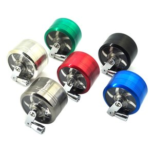 tobacco grinder 40mm 4layers Zicn alloy hand crank tobacco grinders metal grinders for herbs herbal grinders for tobacco GWB4266