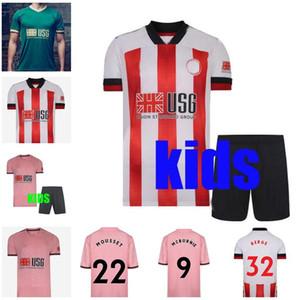 20 21 Sheffield Futbol Formaları Berge Mousset Birleşik 2020 2021 McBurnie Lundstram Fleck Erkekler Çocuklar Kiti Futbol Gömlek Norwood Keskin Jersey