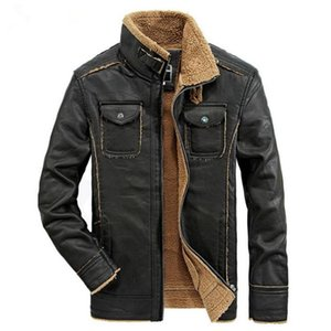 Men's Fur & Faux 2021 Winter Leather Jacket High-end Casual Motorcycle Warm Coat Clothes