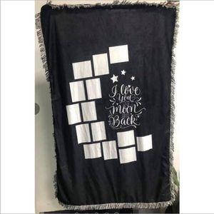 9 Yenileme Battaniyeler Süblimasyon Boşlukları Battaniye Atmak Battaniye Püsküller Ile Battaniye Ile Kalp Ay Şekilleri Bebek Baskılı Battaniye 125 * 150 cm