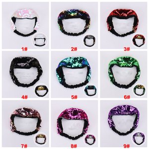 Fashion Reversible Glitter Paillettes Hairbands flip scolorito Scala di pesce Scala Donne Fasce Ampia Head Hoop Lady Girls Accessori per capelli DDA