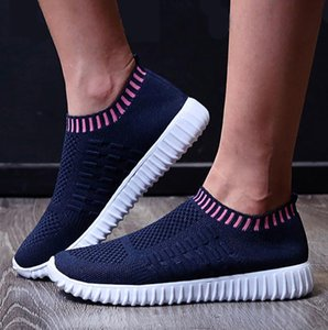 Women Sneaker Breathable Mesh Shoes Female Casual Comfort round toe ladies Shoes Tennis sneakers light slip-up Tenis Feminino