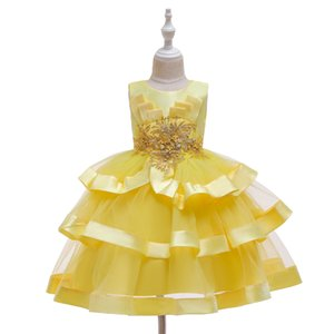 Bambine Pageant Dresse Dresse Natale Principessa Dress Capodanno Party Bambini Costume Cosplay Girls Pageant Dress per feste e palcoscenico
