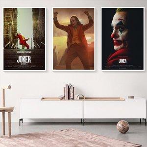 Классические Joker Movie Poster Joaquin Phenix Портрет Холст Картина DC Comics Плакаты Печаток Настенные картинки для гостиной Декор