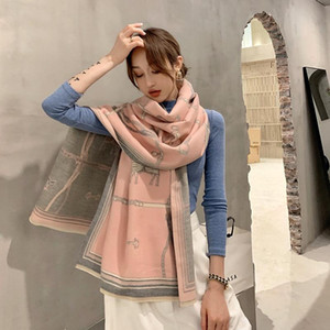 Fashion Warm Bandana Shawls Wraps Printed Horse Thicken Cashmere Lady Scarves Female Women Soft Blanket Bufanda