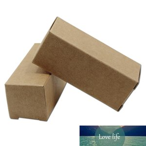Retro Kraft Paper Box 2.8*2.8*7 cm 200Pcs  Lot Small Cardboard Boxes For Event Party Gift Lipstick Lip Cream Pins Clasps Packing