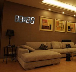 Modern Design 3d Led Wall Clock Modern Digital Alarm Clocks Display Home Living Room Office Table Desk Night Wa jllkgg bdedome
