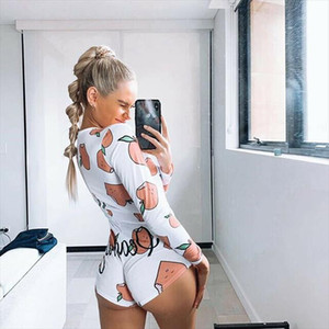 Womens Plunge V Neck Bodycon Long Sleeve Bodysuit Tie Stretch Leotard Crop Tops Short Romper Sleepwear Pajamas Suit