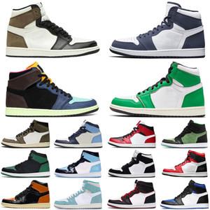 nike air jordan retro 1 1s jumpman chaussures de basket-ball hommes femmes Bloodline Fearless hommes formateurs baskets de sport