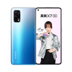 "Original Realme X7 5G Mobile Phone 6GB RAM 128GB ROM MTK 800 Octa Core Android 6.4"" Full Screen 64MP AI Face ID Fingerprint Smart Cell Phone"