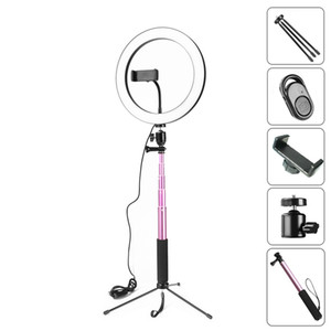 10inch 26CM Dimmable LED Studio Camera Ring Light Photo Phone Video Light Lamp With Tripods Selfie Stick Ring Light Phone Holder