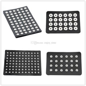 Noosa Snap Takı Siyah PU Deri 12mm 18mm Snap Düğmesi Ekran Takı Standı Noosa CHUNK Snap Düğmeleri Takı Ekran Tutucu