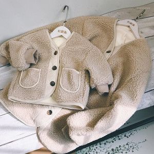 Winter New family outfit warm mother and daughter clothes mommy and me fur coat thicken lining coat for girls1