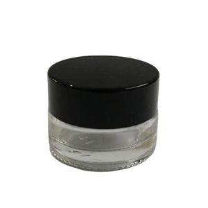 500x3g Traval Küçük Krem Makyaj Cam Kavanoz Alüminyum Kapakları Ile Beyaz PE Pad 3CC Kozmetik Ambalaj Cam Jar HWD3169