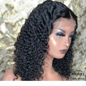 Malaysian Short Bob Lace Front Human Hair Wig Pre Plucked For Black Women Glueless 13x4 Deep Wave Frontal Wig Remy