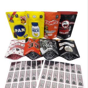 3.5g Mylar Bags Sacos à prova de criança BB Meninos Lemon Branco Preto Cereja Gelato Bag 420 Flor de erva seca Stand up bolsa embalagem AB