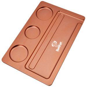 Matte Textur Raucher-Tablett 278 * 182mm Metall Zigarette Rauchentrays Rolling Zigarettenschale Tabak TABACCO TABELEFÄNGLICHE SPEICHERHÄNDE MEER SERVICE LLA143