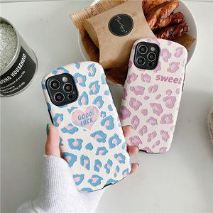 Blue Purple Leopard Cheetah Pattern Relief Lambskin PU Material Mobile Phone Case Cover for iphone 12 mini 11 Pro Max 7 8 Plus X XR XS Max