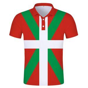 Euskal Herria Basque Flag POLO shirt Spain Spanish ikurrina Basque Flag POLO shirt Print photo logo red black clothing
