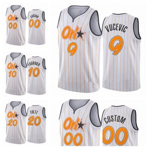 Orlandola magieHommes Aaron Nikola Gordon Vucevic Evan Fultz Fournier 2020/21 Swingman City Basketball Jersey Blanc Icon Edition