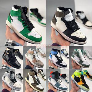 2021 Jumpman 1 1S Basketball Chaussures Milan Milan Candy Turbo Green Unc Twist Skink Meucha Mens Sneakers EUR 36-47 Avec Boîte Entraîneurs