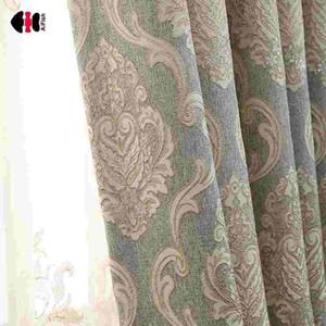 Europäischer Damastvorhang Luxus Jacquard Blind Drapes Fenster Behandlung Panel Wohnzimmer Hochzeit Gaze LJ201224