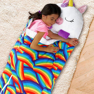 Spot Happy Nappers Cross-border Amazon Explosive Children Sleeping Bag Cartoon Animal Sleeping Bag Pillow