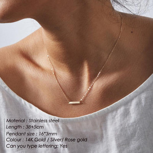 eManco Minimalist Chokers Necklace for women Stainless Steel Necklace women Dainty Gold color Necklaces Jewelry1