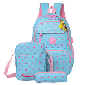 3 PCS / Sets Bolso de la escuela de alta calidad Mochila de la escuela de moda para adolescentes Chicas Schoolbags Kid Backpacks Mochila Escolar C0121