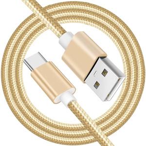Нейлон плетеный USB-кабель Micro Тип C Зарядки Кабели Линия данных для Samsung Huawei Xiaomi Android 1M 2M