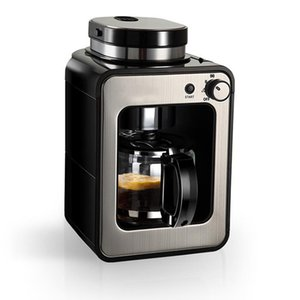 Coffee machine drip type Household automatic fresh coffee machine 600w small grinder One office American maker LP