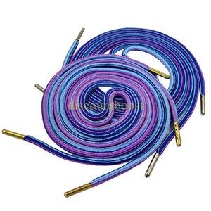 1Pair Colorful Laces Rainbow Gradient Print Flat Canvas Shoe Lace Shoes Casual Chromatic Colour Shoelaces Cool Grey 80CM 100CM 120CM