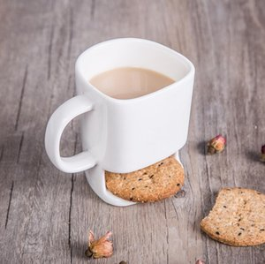 Ceramic Biscuit Cups Creative Coffee Cookies Milk Dessert Cup Bottom Storage Mugs for Cookie Biscuits For Home Office